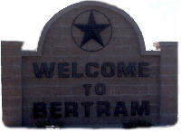 Bertram Texas welcome sign